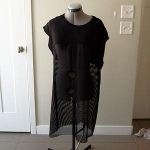 Zara Collection W/B W&B tunic top long black
